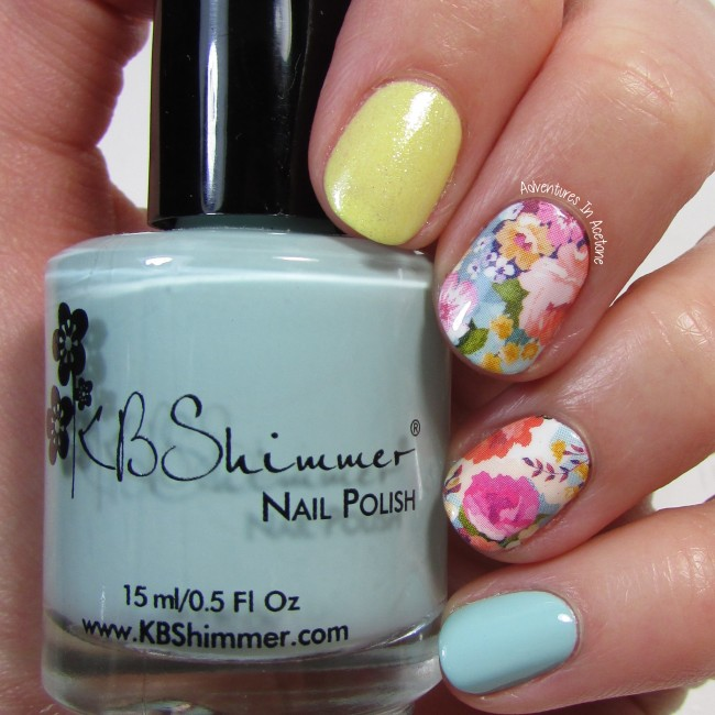 KBShimmer Pastel Floral Water Slide Decal 2