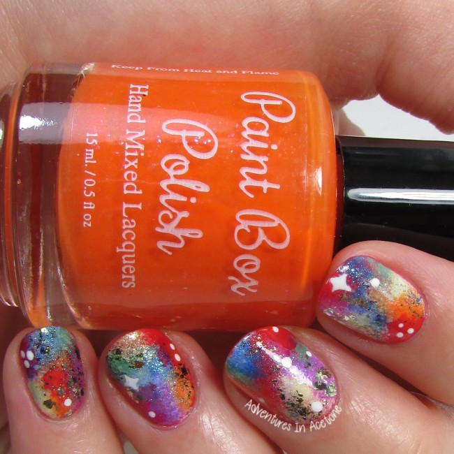 Rainbow Galaxy Nail Art 2-001