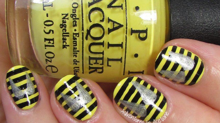 Bee Nail Art 2