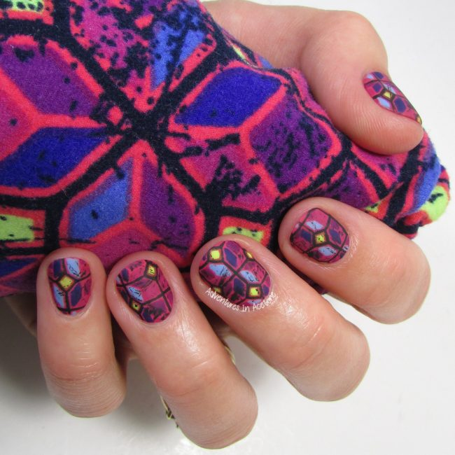 LuLaRoe Geometric Leggings Nail Art 3