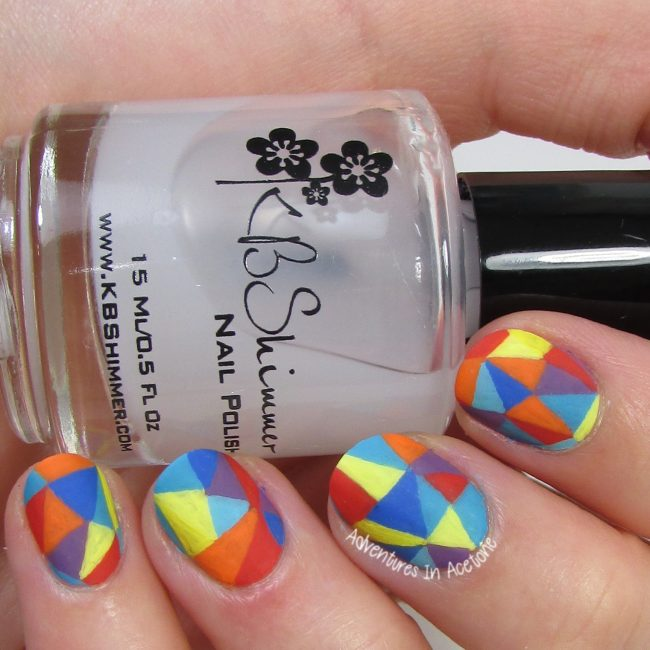 LuLaRoe Mosaic Leggings Nail Art 2