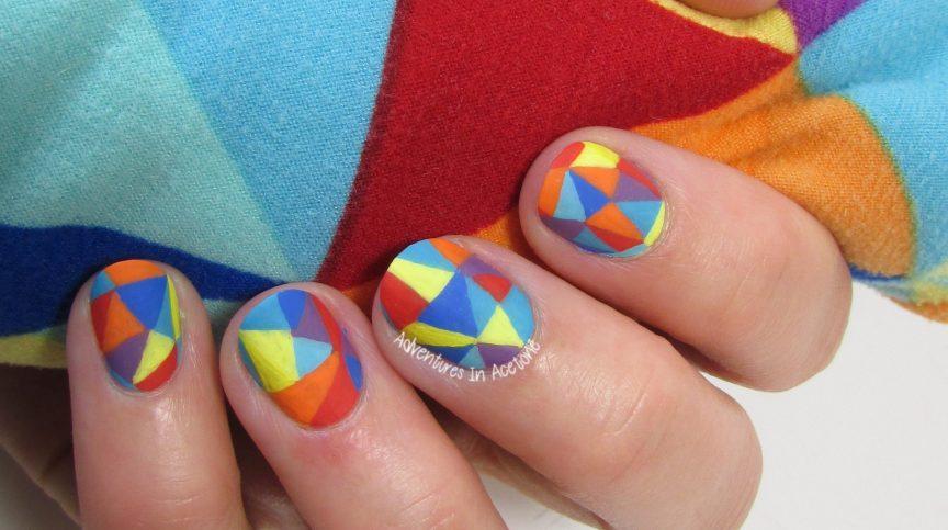 LuLaRoe Mosaic Leggings Nail Art 3