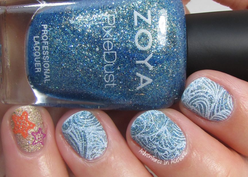 40 Great Nail Art IdeasSeaside Textured Nail ArtAdventures In
