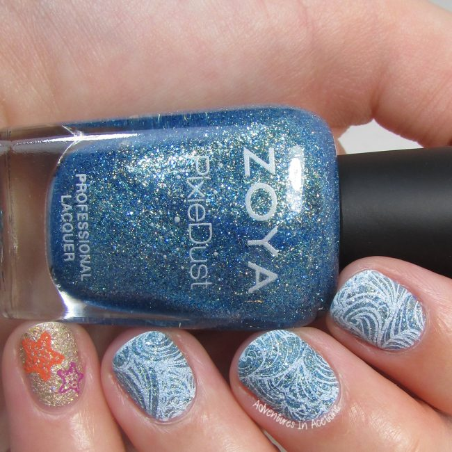 Textured Seaside Nail Art 2
