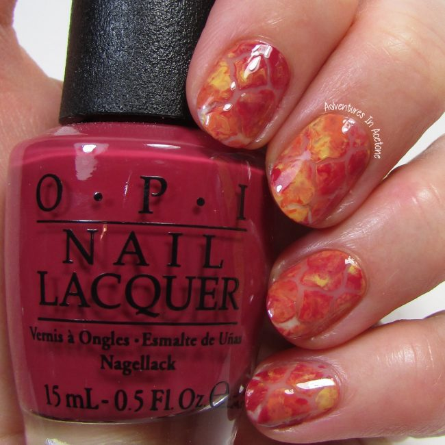 Fall Negative Space Quatrefoil Nail Art 1