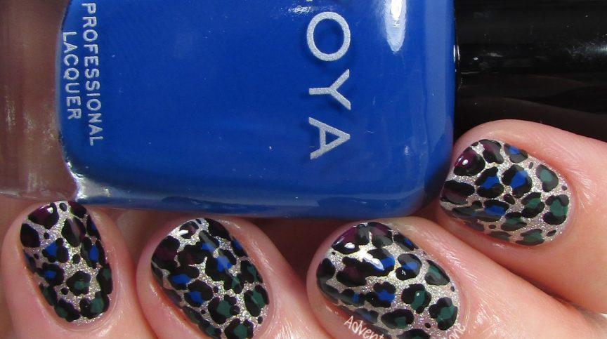 Zoya Urban Grunge Gradient Leopard Nail Art 2