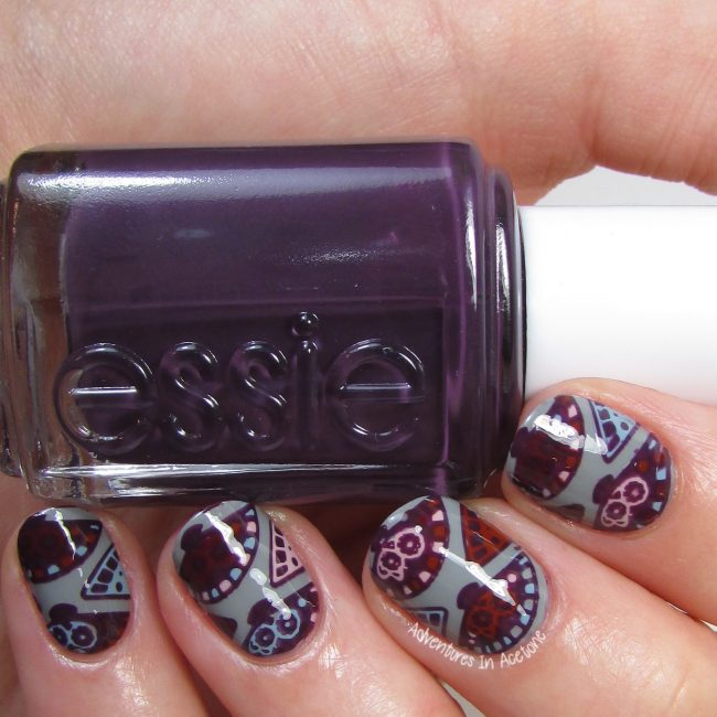 Fan Nail Art with Essie Fall for Japanese Collection 2016-001