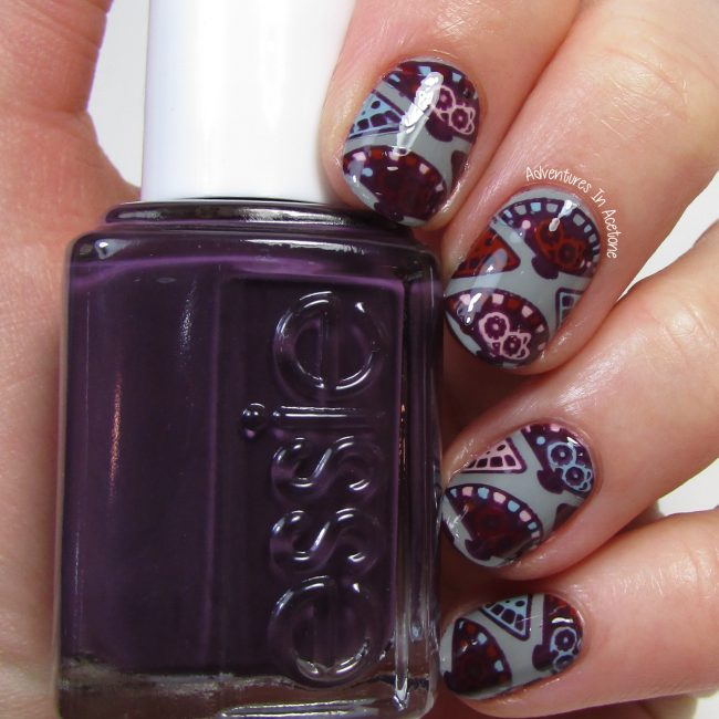 Fan Nail Art with Essie Fall for Japanese Collection 2016 2