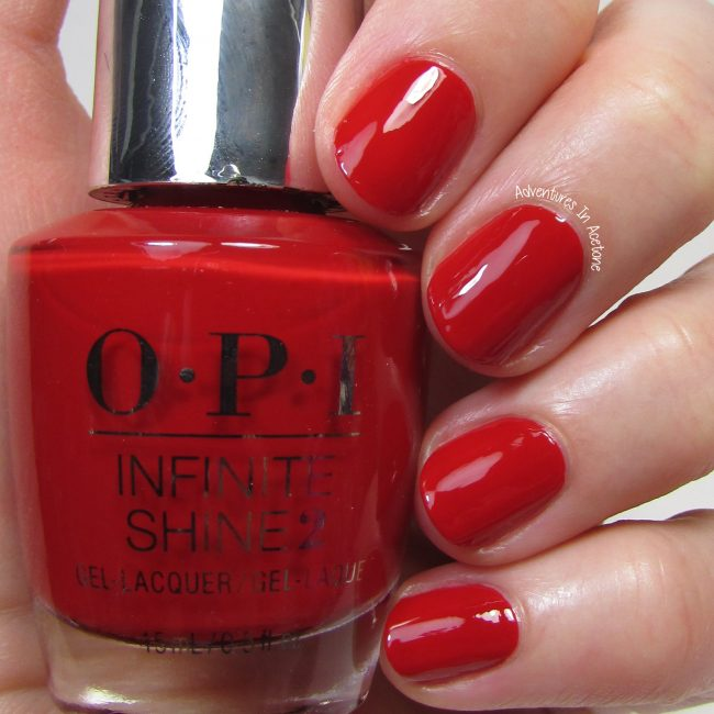 OPI Infinite Shine Big Apple Red 1