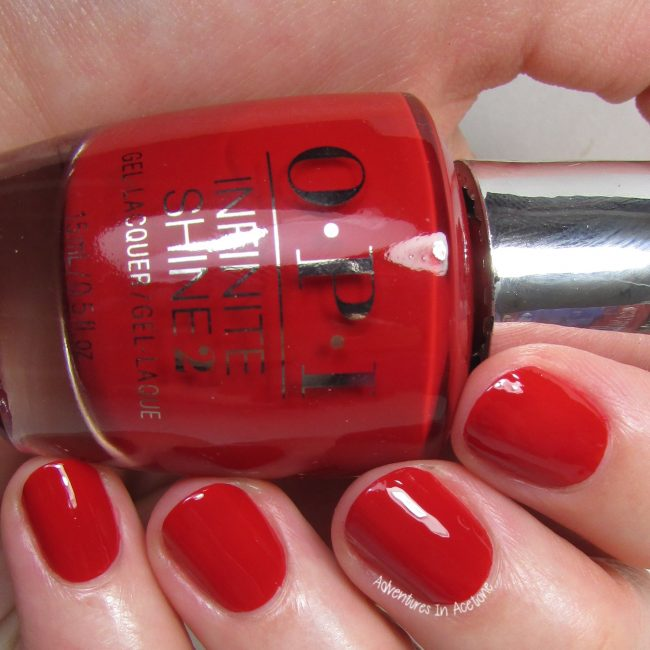 OPI Infinite Shine Big Apple Red 2