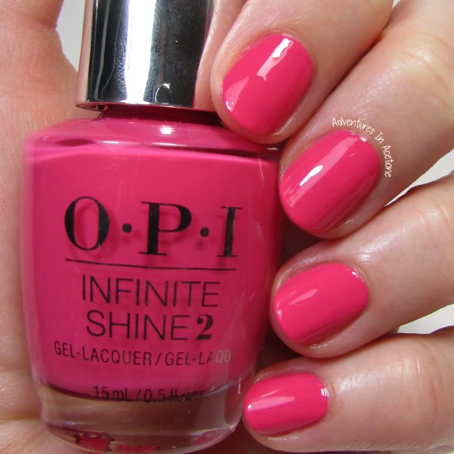 OPI Infinite Shine Strawberry Margarita 1