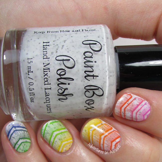 Rainbow Chevron Nail Art 2
